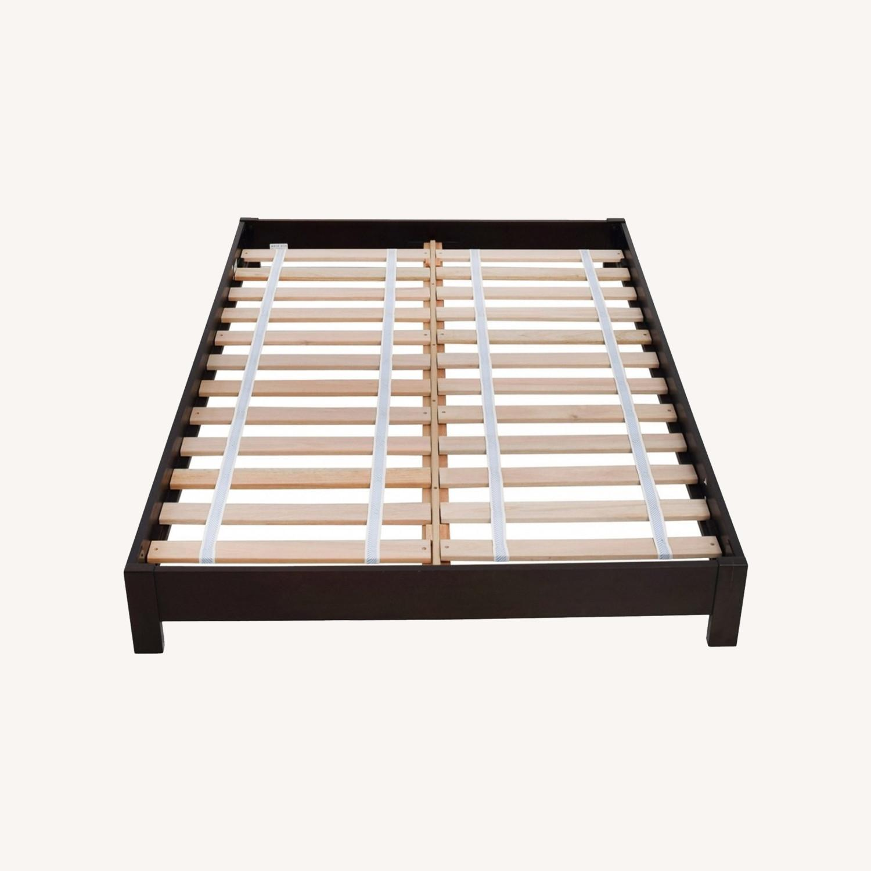 West Elm Full Wooden Bed Frame - image-0