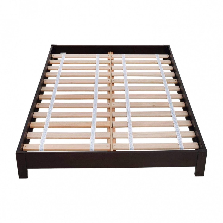 West Elm Full Wooden Bed Frame - image-1