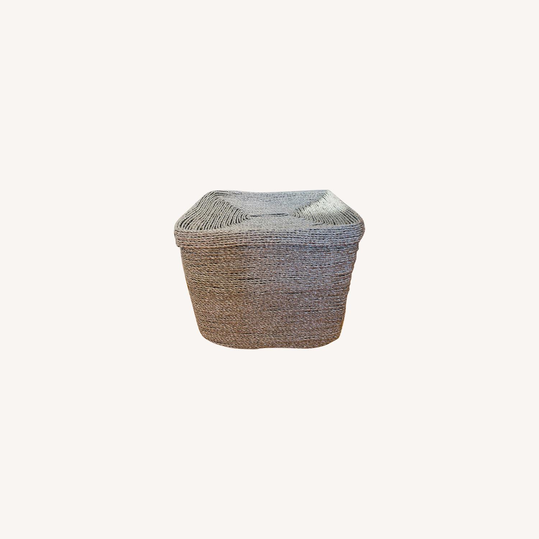 West Elm Metallic Woven Oversized Basket - image-0