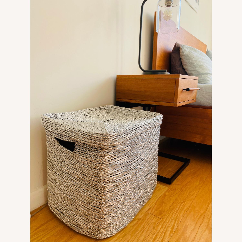 West Elm Metallic Woven Oversized Basket - image-2