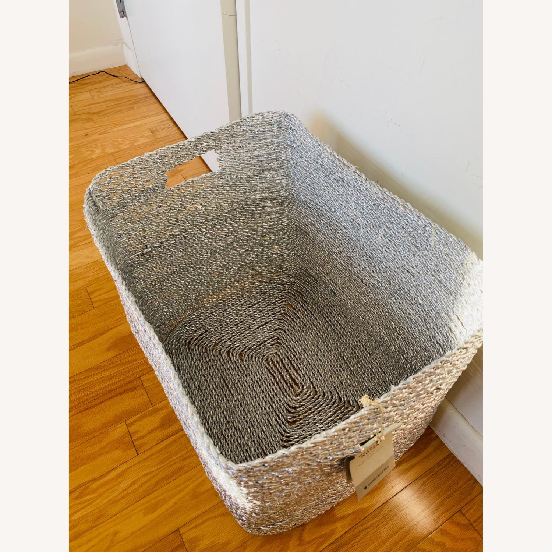 West Elm Metallic Woven Oversized Basket - image-3