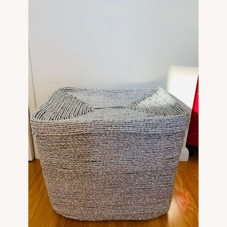 West Elm Metallic Woven Oversized Basket - image-1
