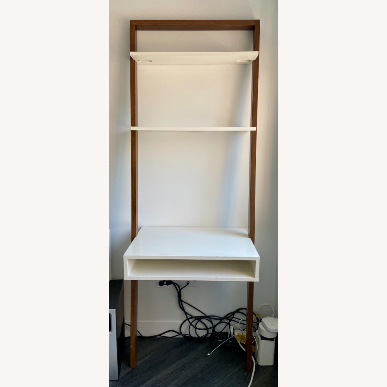 West Elm Ladder Desk Shelf Aptdeco