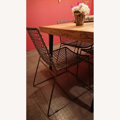 Used Crate & Barrel Tig Metal Chair Set of 2 for sale on AptDeco