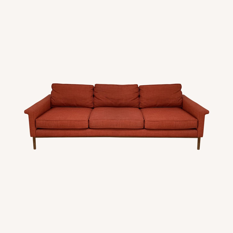 West Elm Brick Red Leon Sofa - image-0