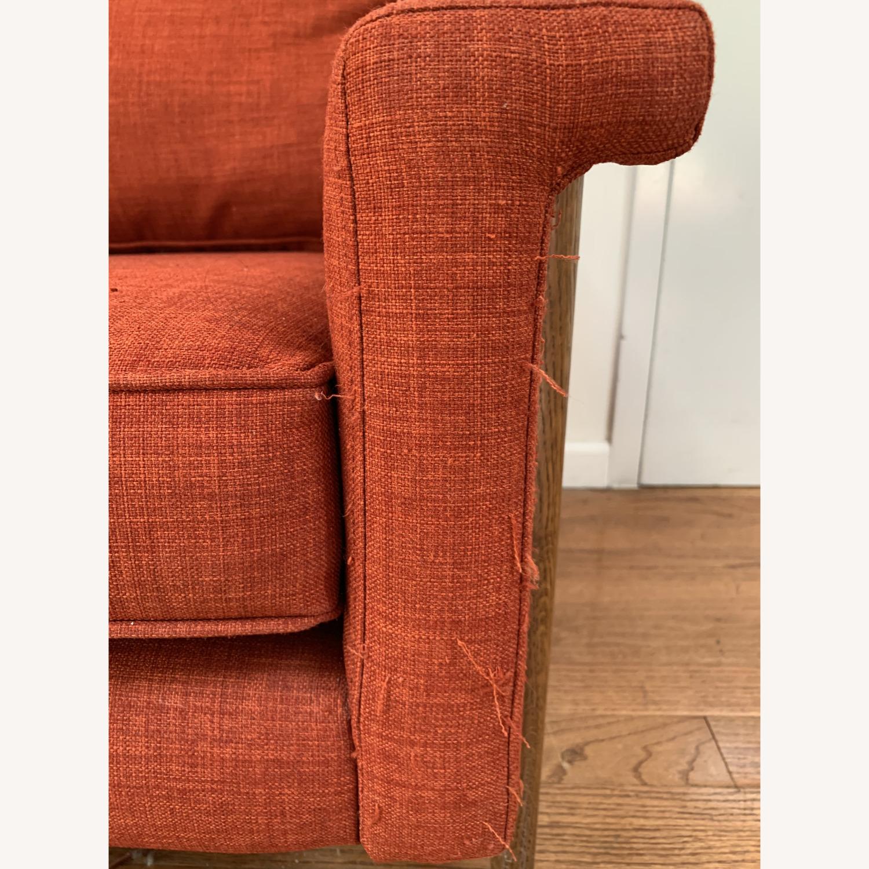 West Elm Brick Red Leon Sofa - image-2