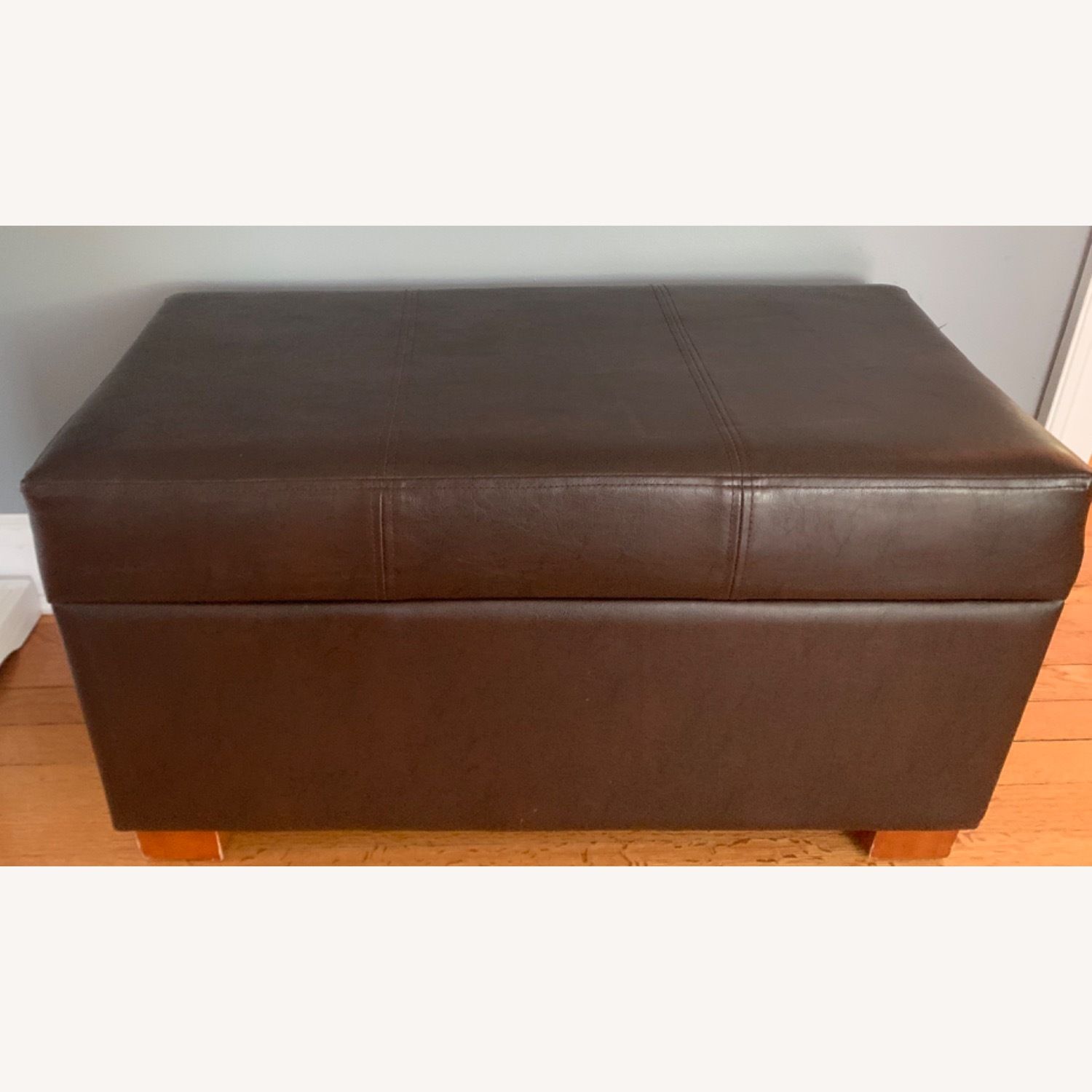 Target Faux Leather Ottoman - image-2