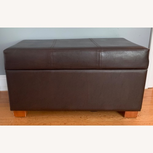 Used Target Faux Leather Ottoman for sale on AptDeco