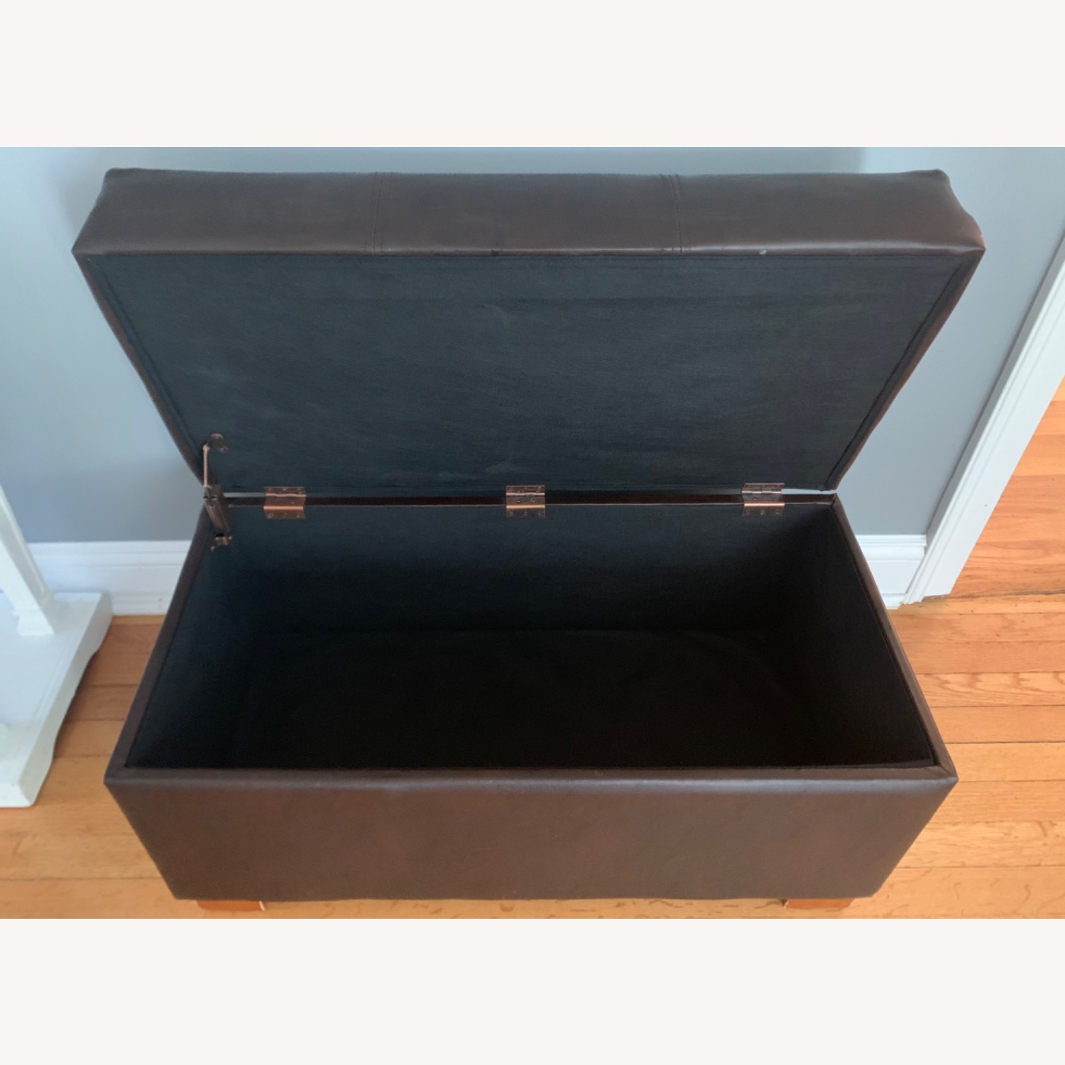 Target Faux Leather Ottoman - image-4