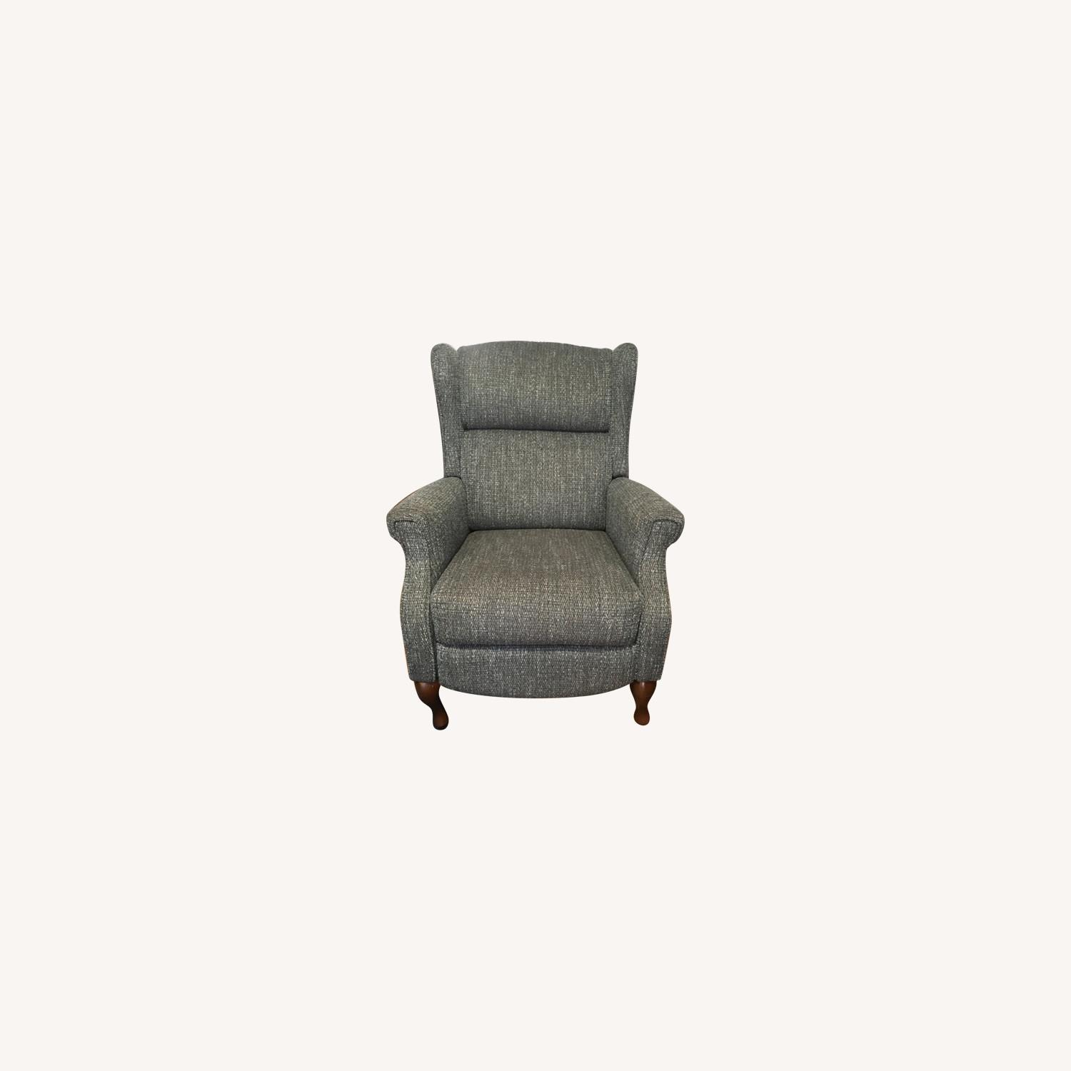 Macy's Blue Gray Pushback Recliner - image-5
