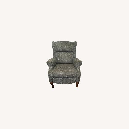 Used Macy's Blue Gray Pushback Recliner for sale on AptDeco