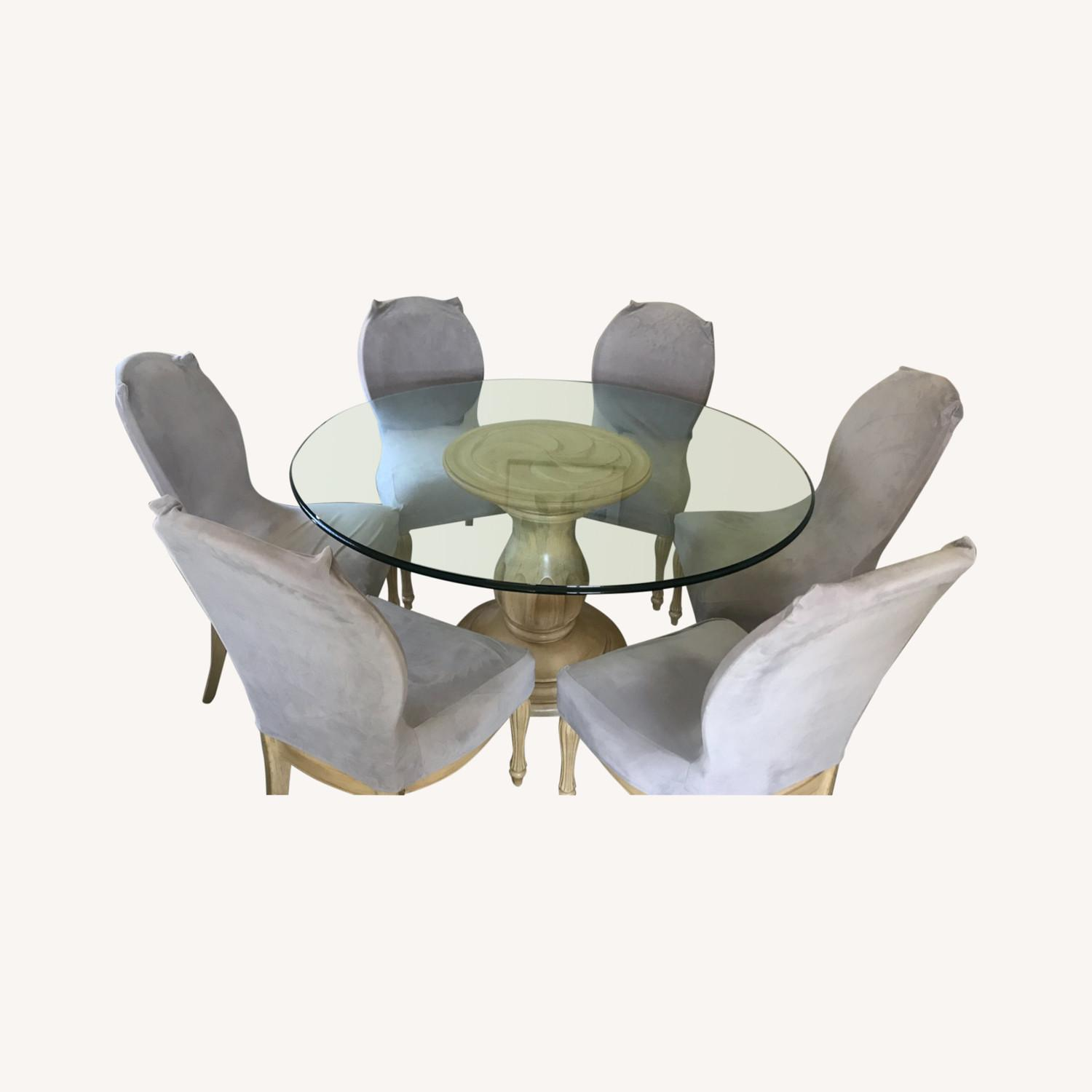 Glass Top Dining Table & Chairs - image-0