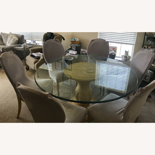Used Glass Top Dining Table & Chairs for sale on AptDeco