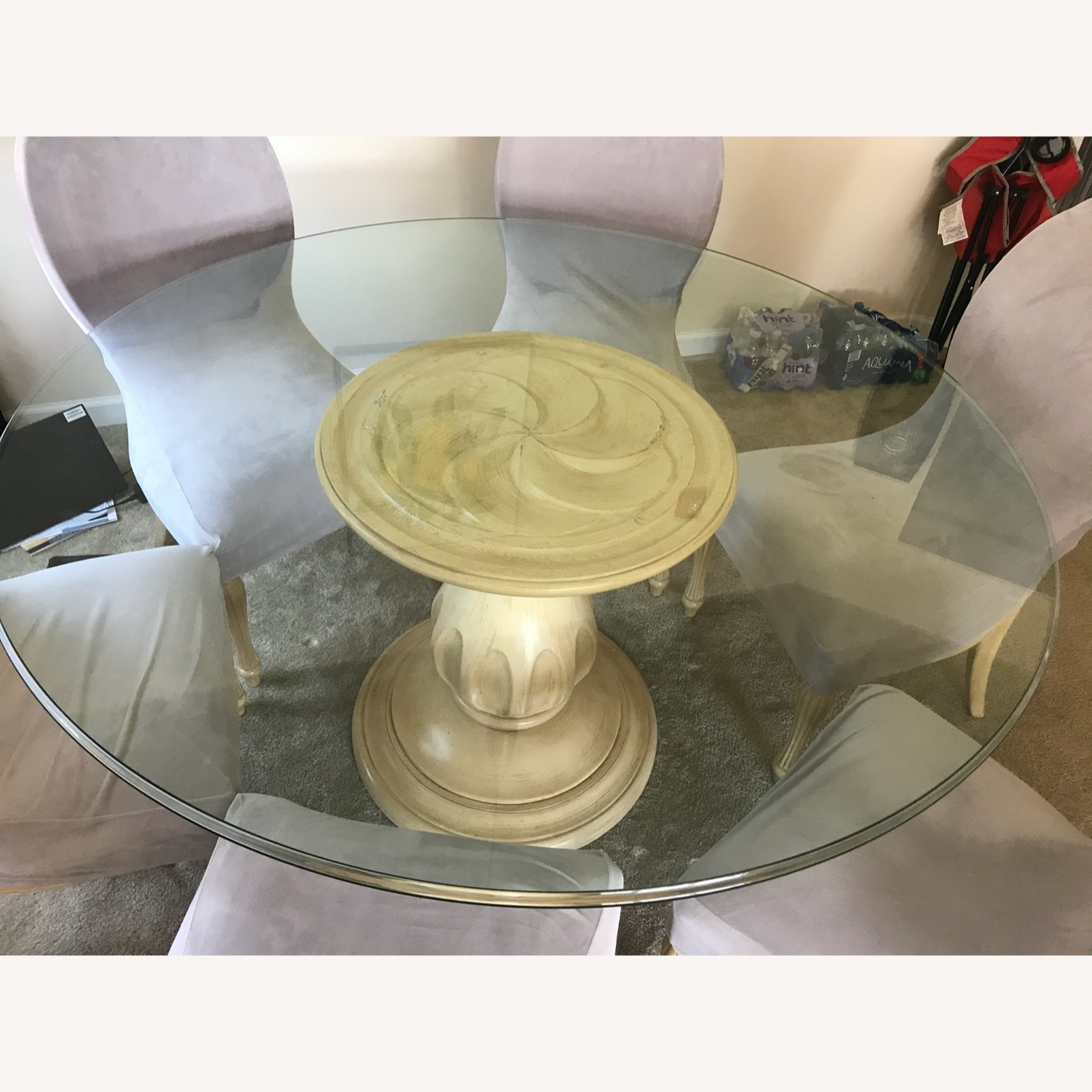 Glass Top Dining Table & Chairs - image-3