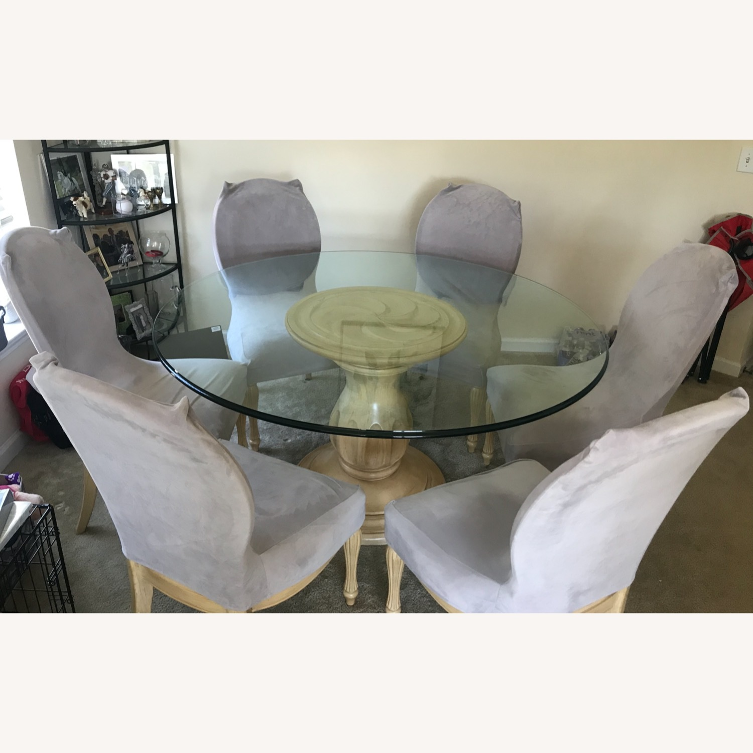Glass Top Dining Table & Chairs - image-1