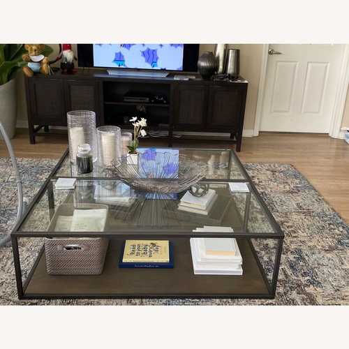 Used Crate & Barrel Switch Coffee Tables (Set of 2) for sale on AptDeco