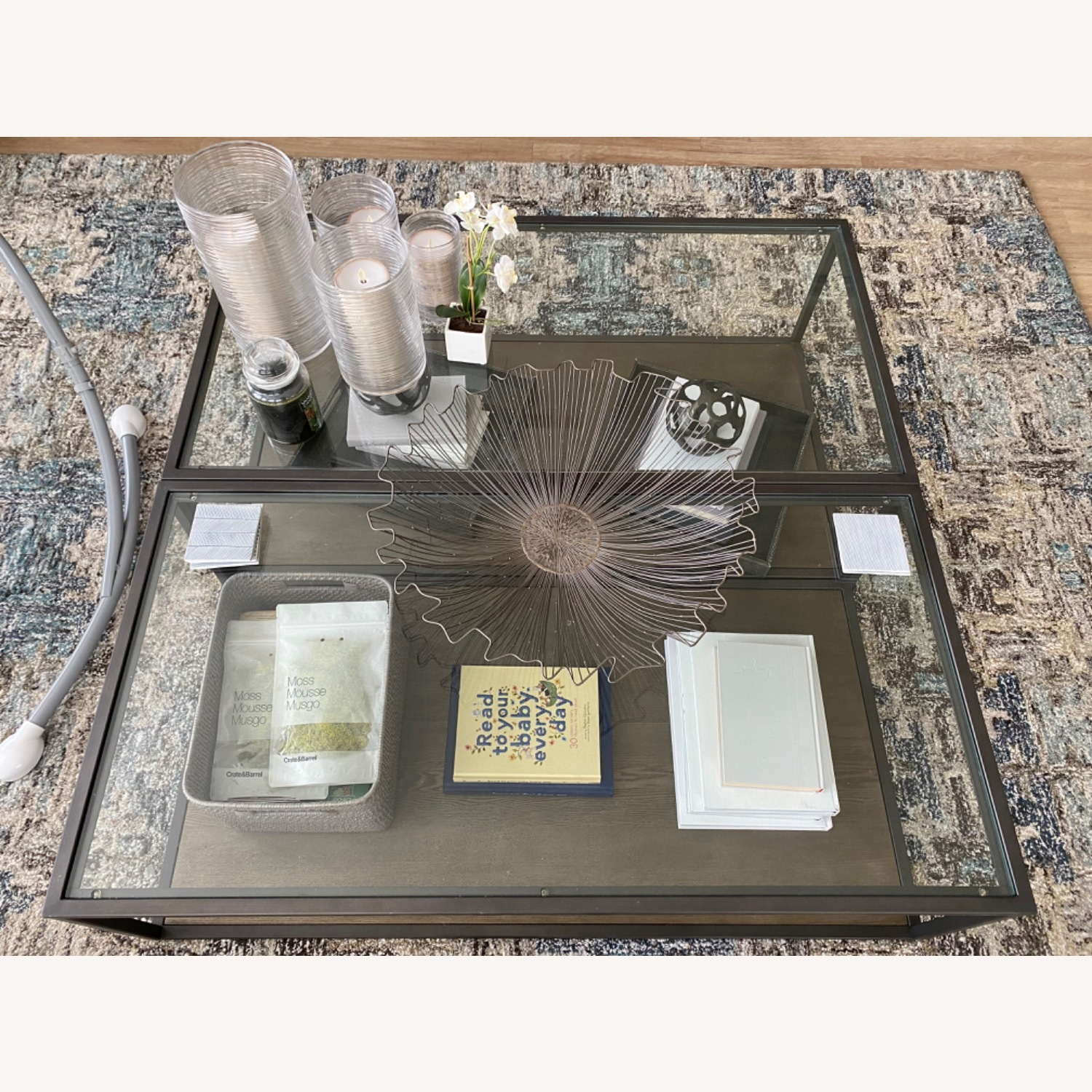 Crate & Barrel Switch Coffee Tables (Set of 2) - image-2