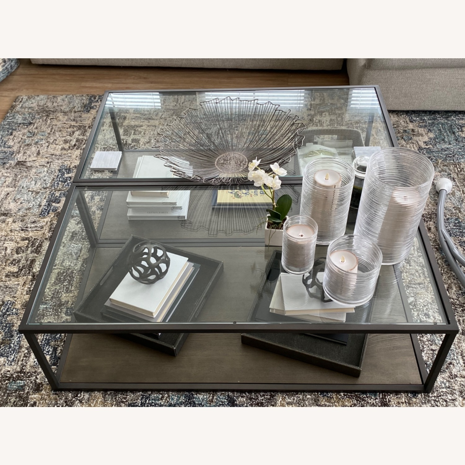 Crate & Barrel Switch Coffee Tables (Set of 2) - image-6
