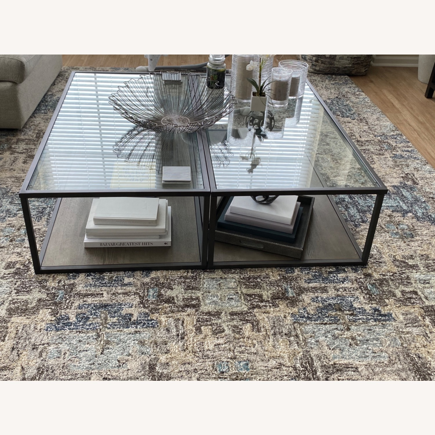 Crate & Barrel Switch Coffee Tables (Set of 2) - image-3