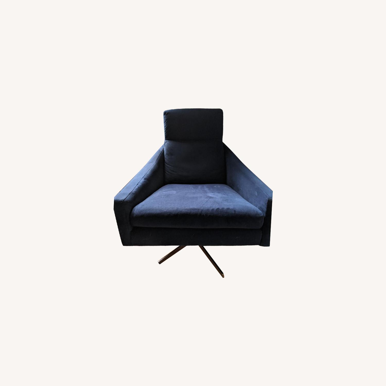 West Elm Austin Swivel Chair + Ottoman - image-0