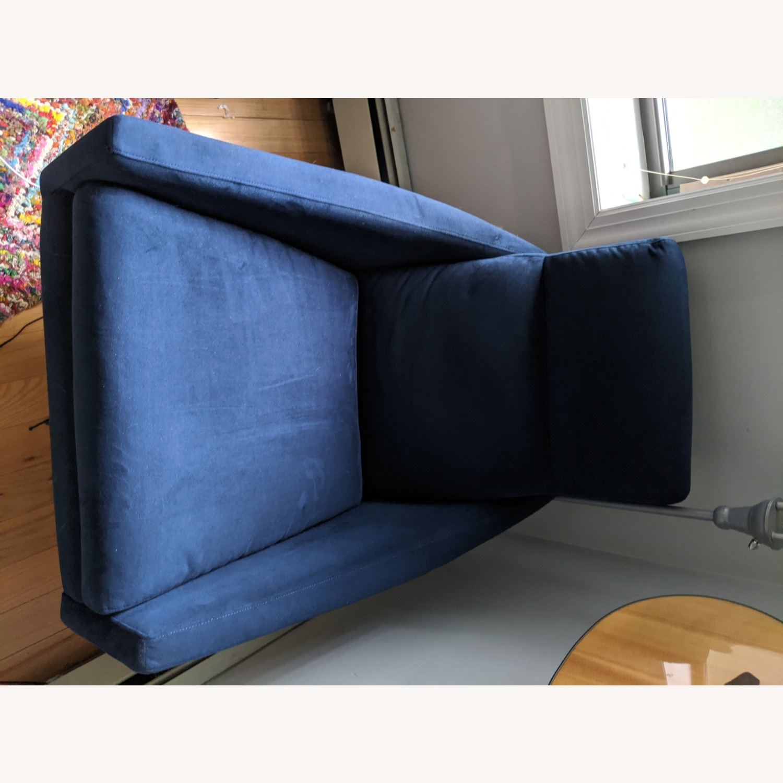 West Elm Austin Swivel Chair + Ottoman - image-2