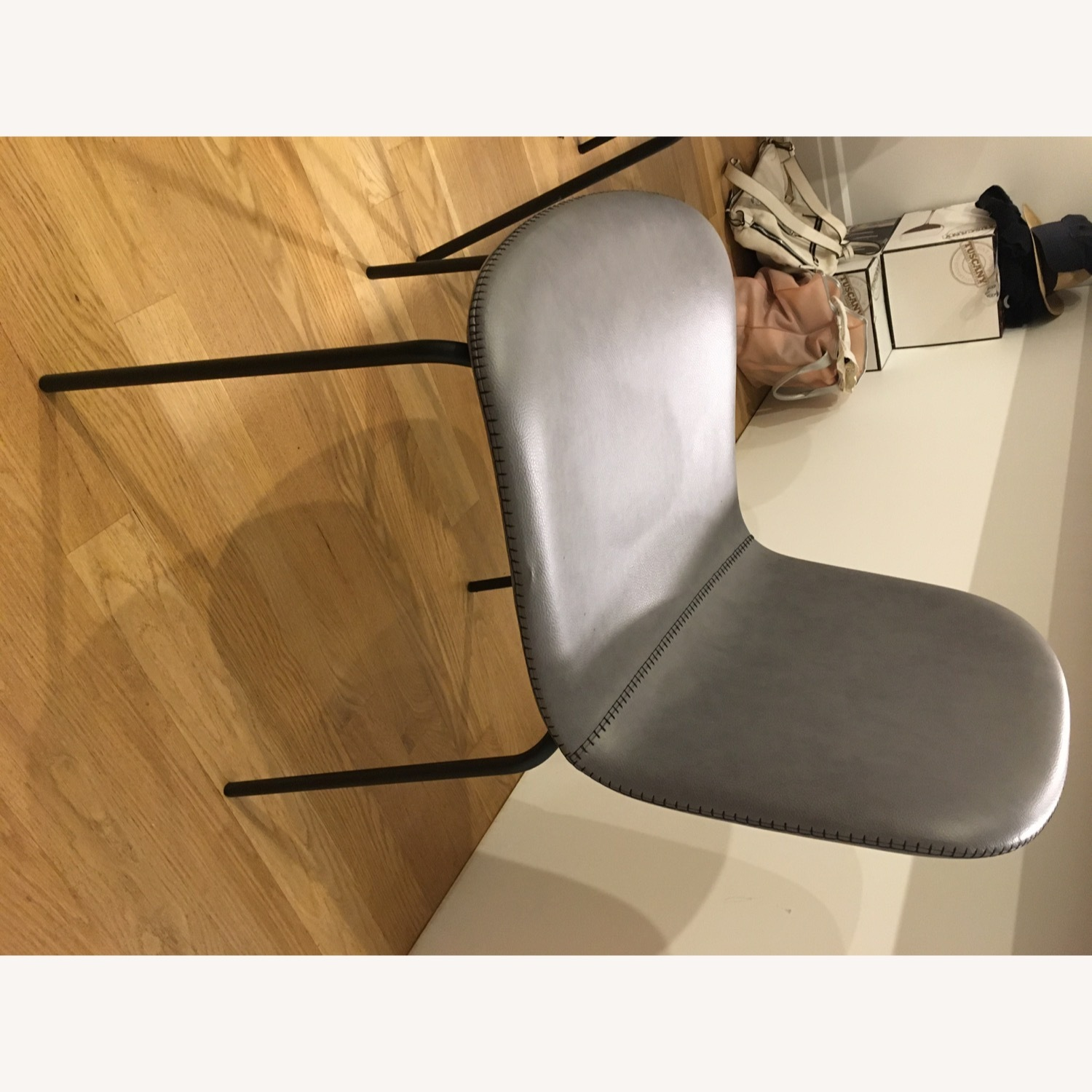 West Elm Gray Dining Chair - image-9