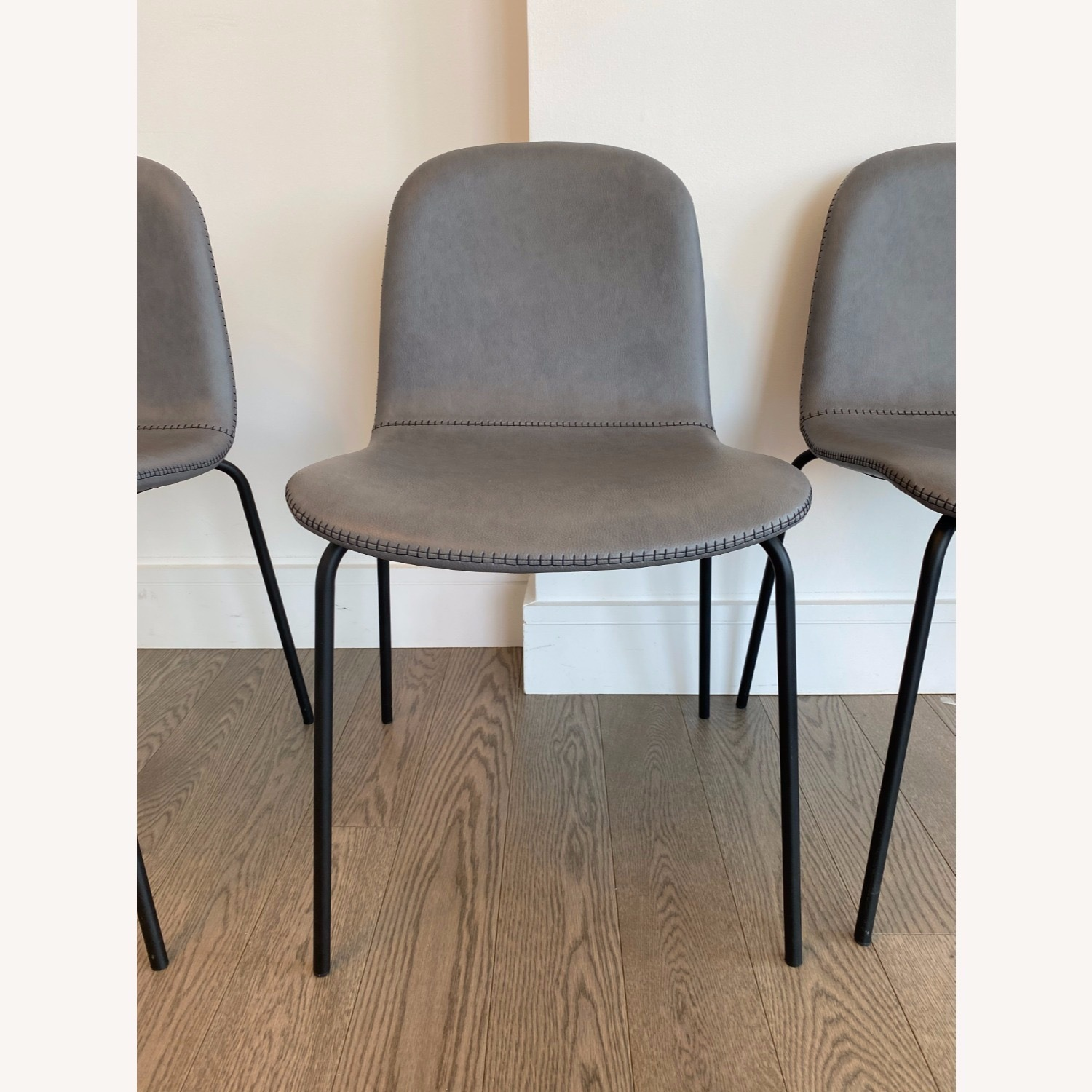 West Elm Gray Dining Chair - image-4