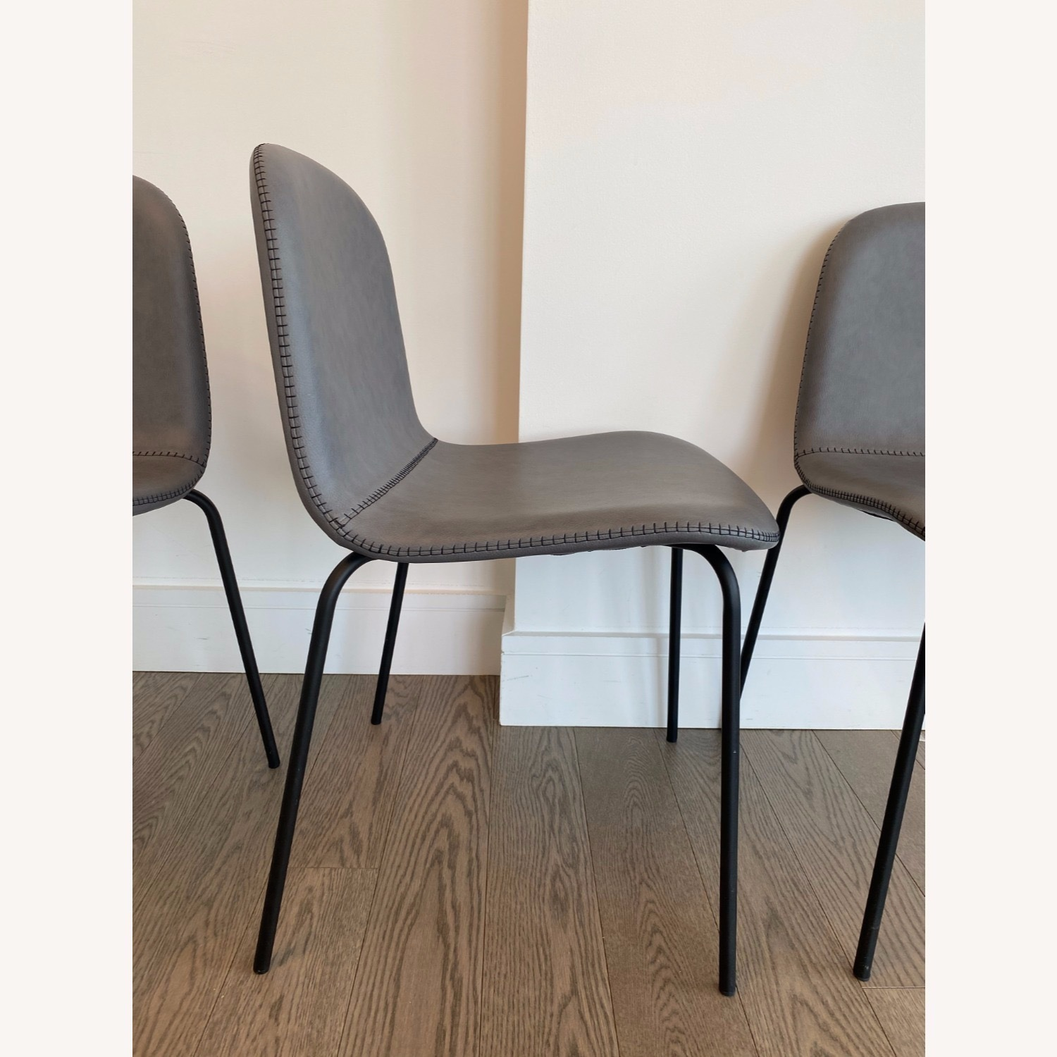 West Elm Gray Dining Chair - image-3