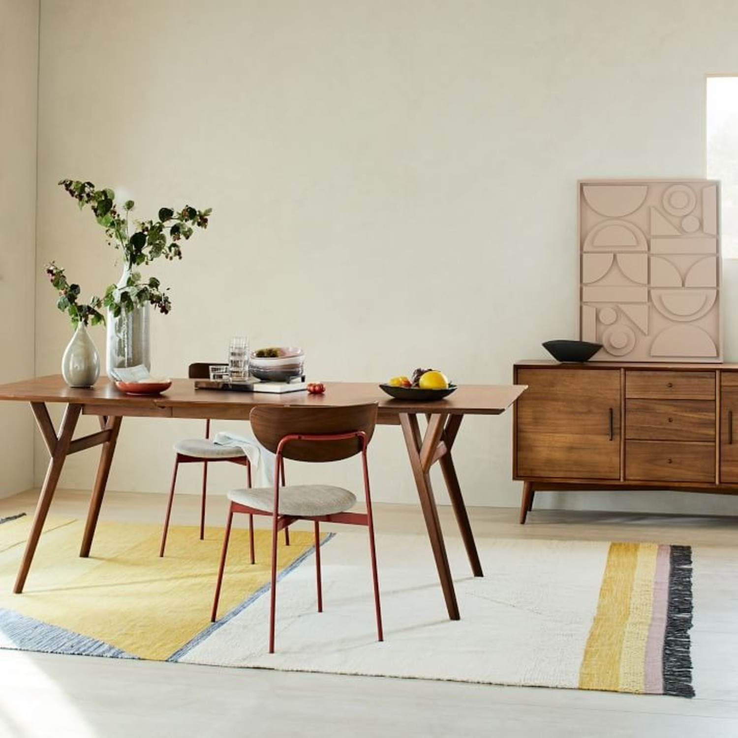 West Elm Mid-Century Expandable Dining Table - image-4