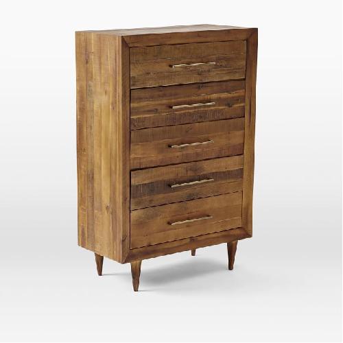 Used West Elm Alexa Reclaimed Wood 5-Drawer Dresser for sale on AptDeco