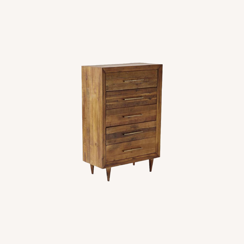 West Elm Alexa Reclaimed Wood 5-Drawer Dresser - image-0
