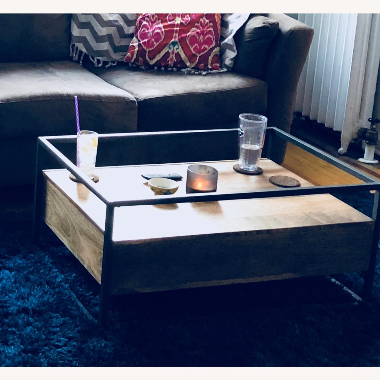 West Elm Box Frame Storage Coffee Table - image-1