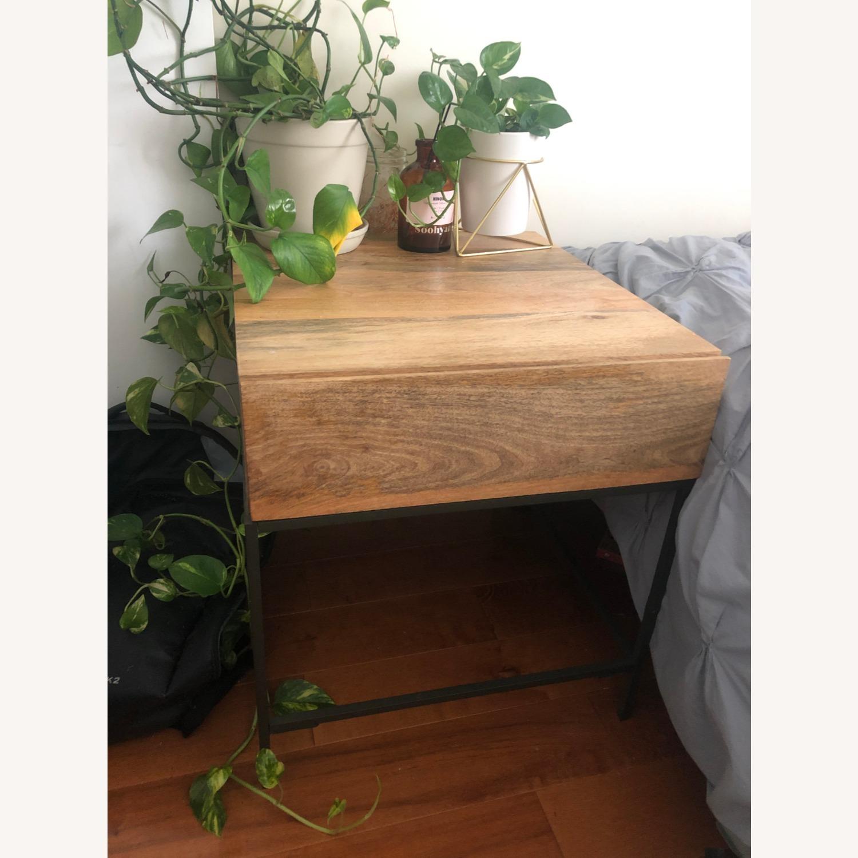 West Elm Mango Wood Side Table - image-1