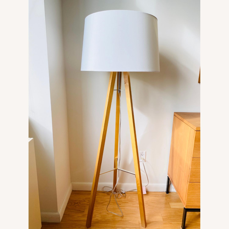 West Elm Tripod Wood Floor Lamp - image-1
