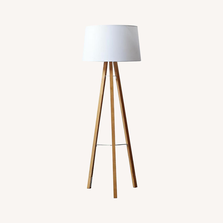 West Elm Tripod Wood Floor Lamp - image-0