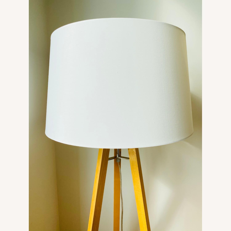 West Elm Tripod Wood Floor Lamp - image-2