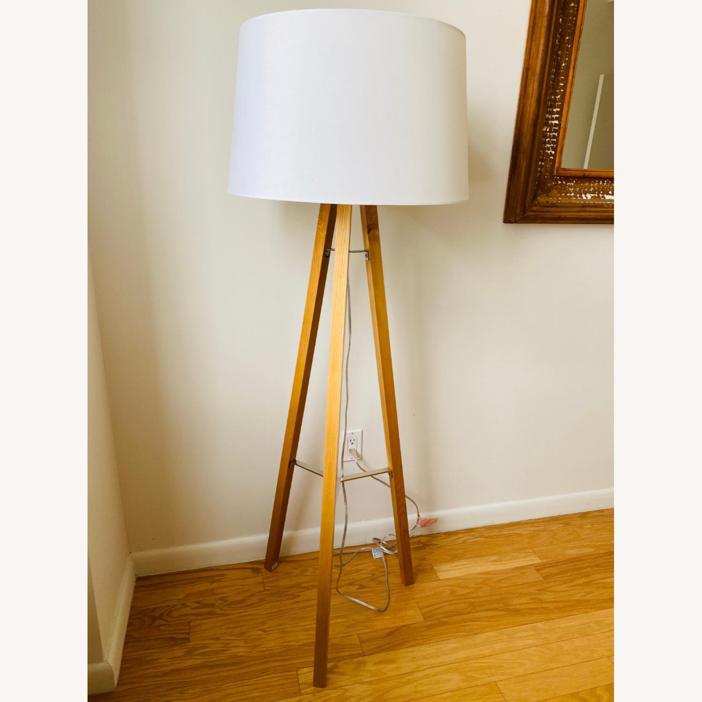 West Elm Tripod Wood Floor Lamp - image-3