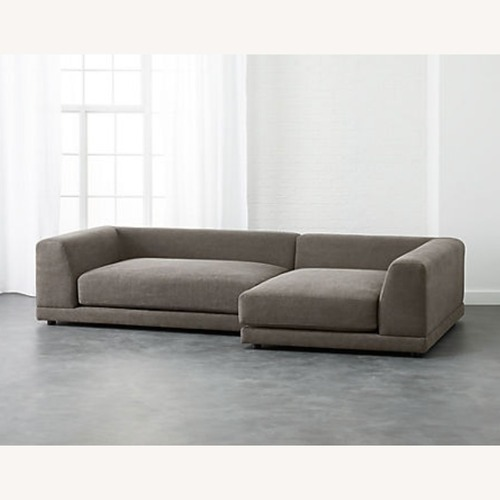 Used CB2 Uno 2-Piece Sectional Sofa for sale on AptDeco