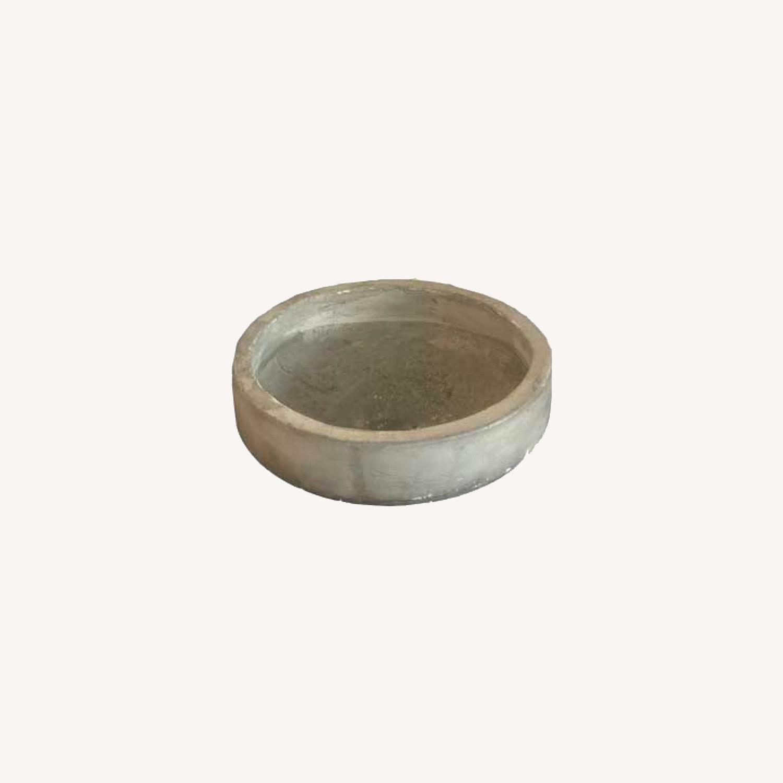 Grey Low Modern Round Planters - image-5