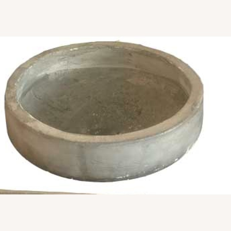 Grey Low Modern Round Planters - image-3