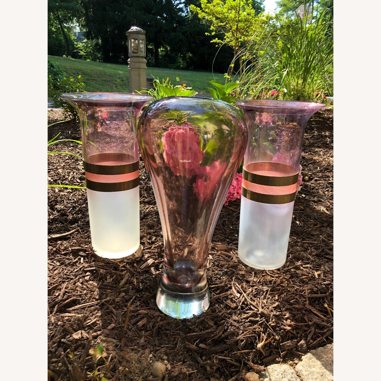 Art Deco Decorative Glass Vase Triplets - image-0