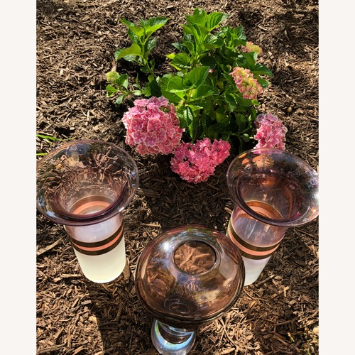 Used Art Deco Decorative Glass Vase Triplets for sale on AptDeco