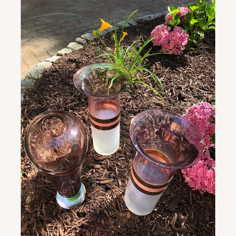 Art Deco Decorative Glass Vase Triplets - image-3