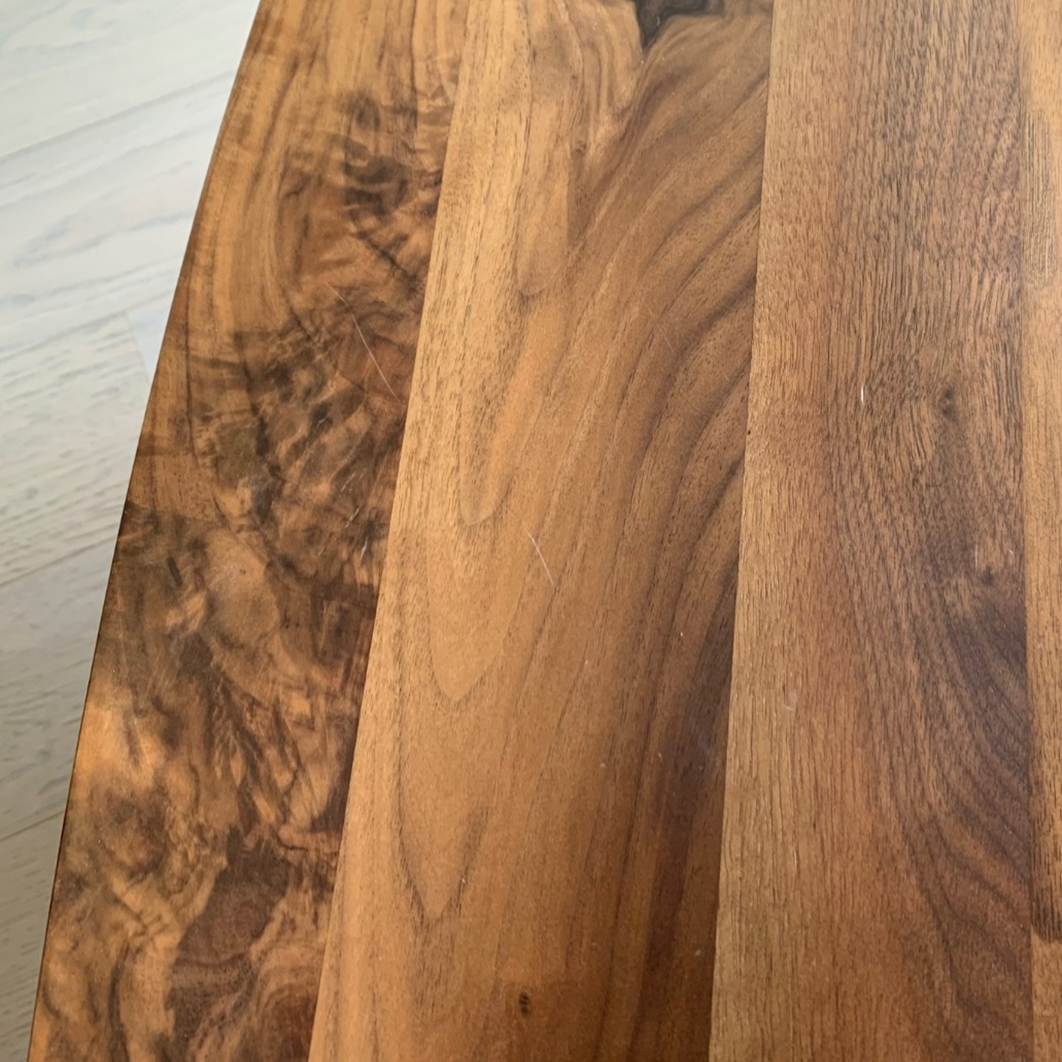 Article Walnut and Glass Side Tables - image-4