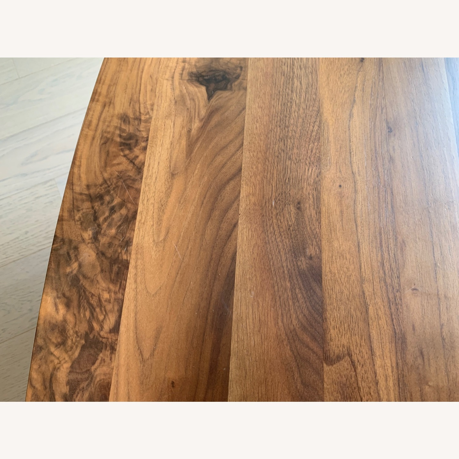 Article Walnut and Glass Side Tables - image-8