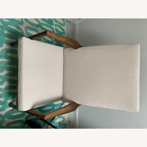 Used White Vintage Midcentury Reclining Chair & Ottoman for sale on AptDeco