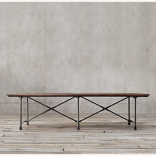 Used Restoration Hardware Flatiron Dining Table for sale on AptDeco