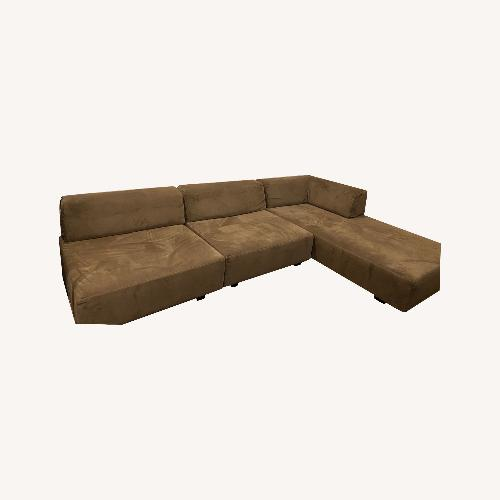 Used West Elm Tillary Brown Sectional for sale on AptDeco