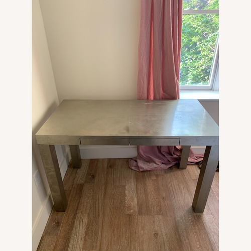 Used West Elm Metallic Parsons Desk for sale on AptDeco