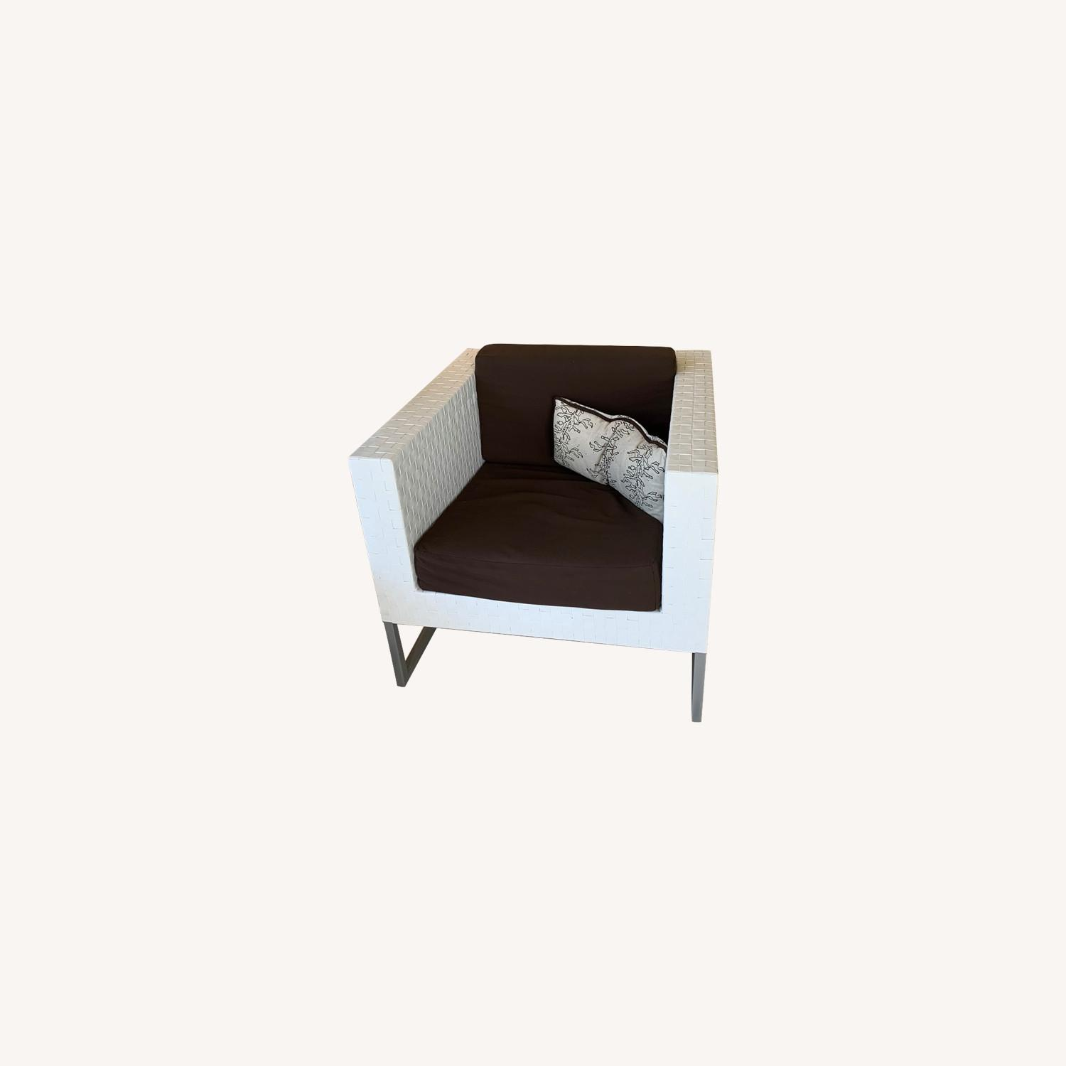 White Chaise and Matching Chairs and Ottoman - image-0